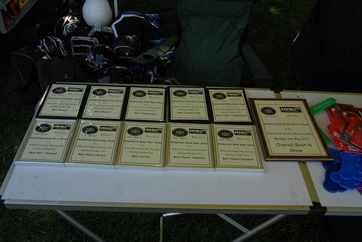 Wakefield Hospice May Day Gala Bike Show Certificates