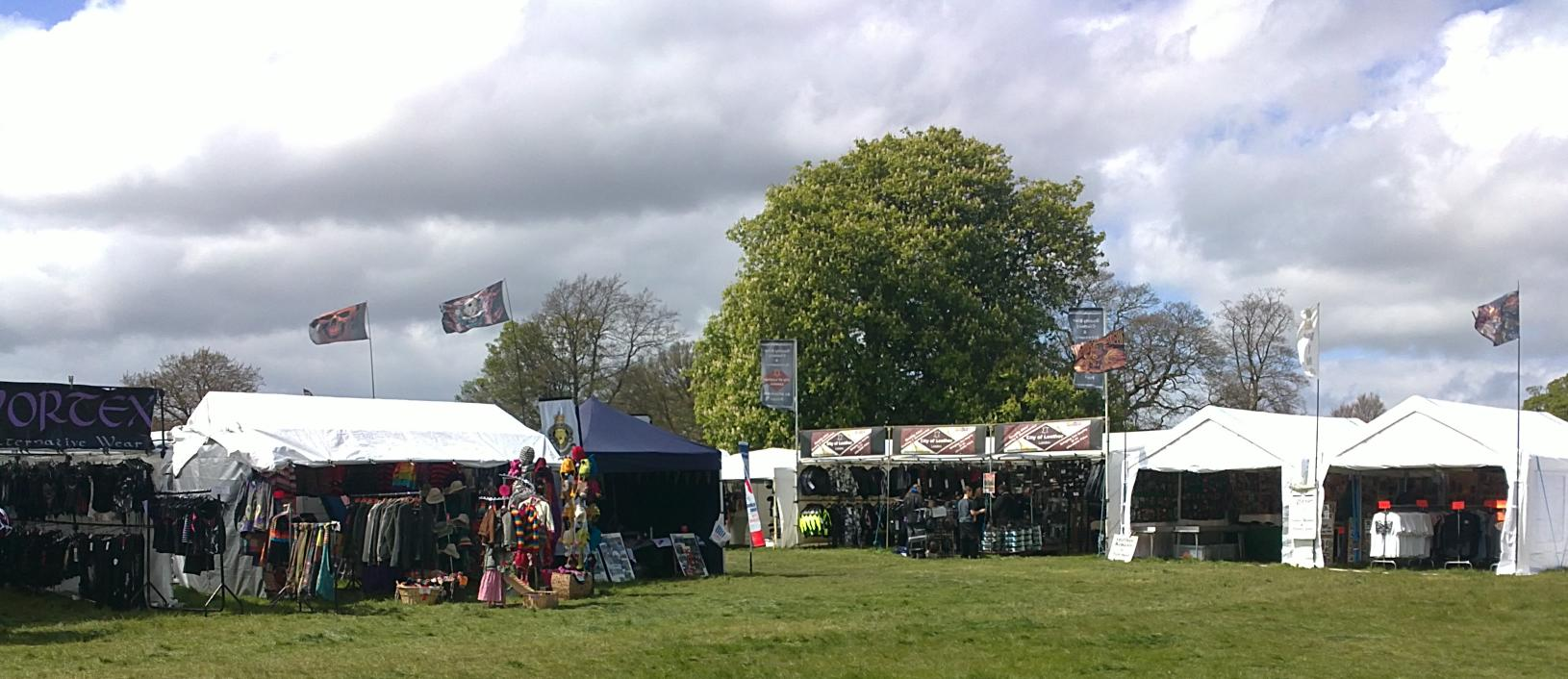 Some of the traders on site