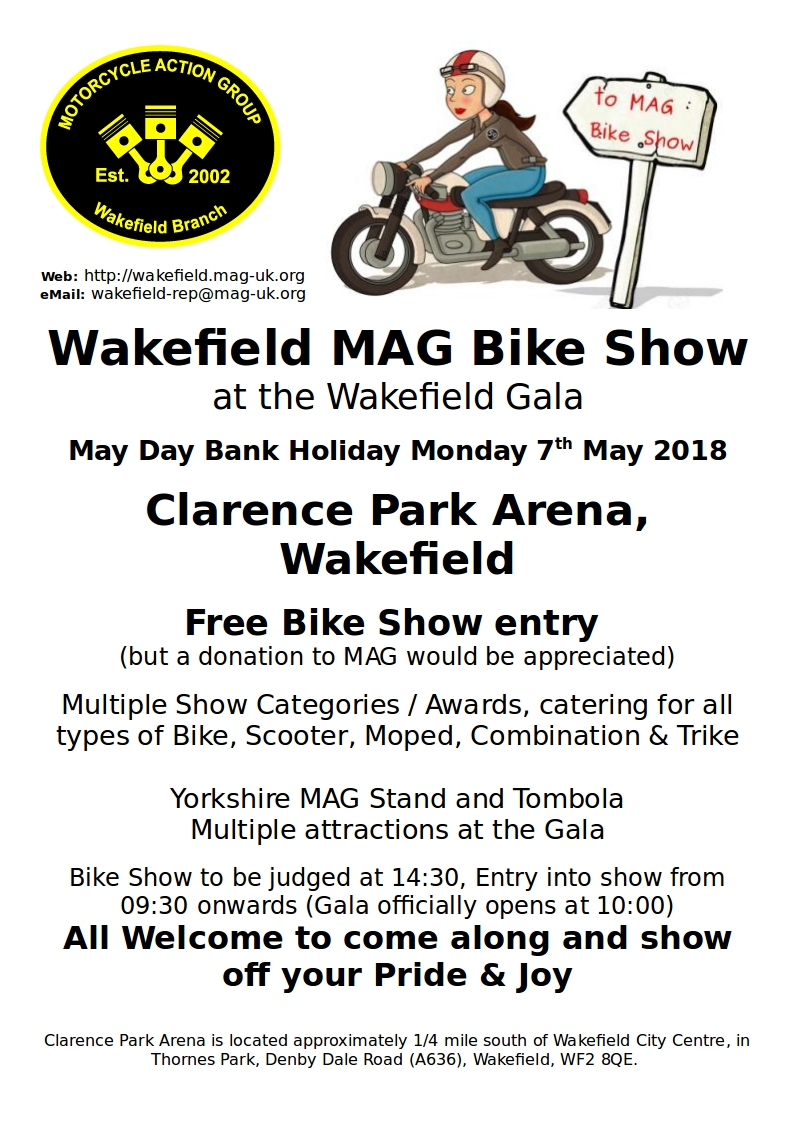 Wakefield MAG Bike Show at the Wakefield Gala
