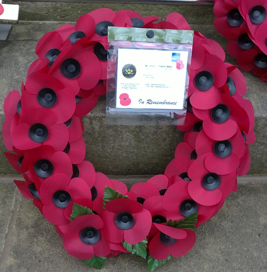 Our wreath, amongst the many others