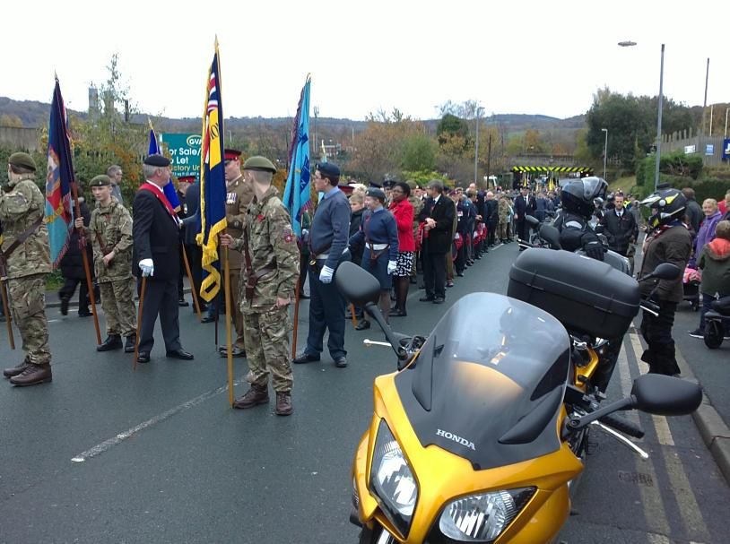 Getting ready for the parade with the RBLR guys