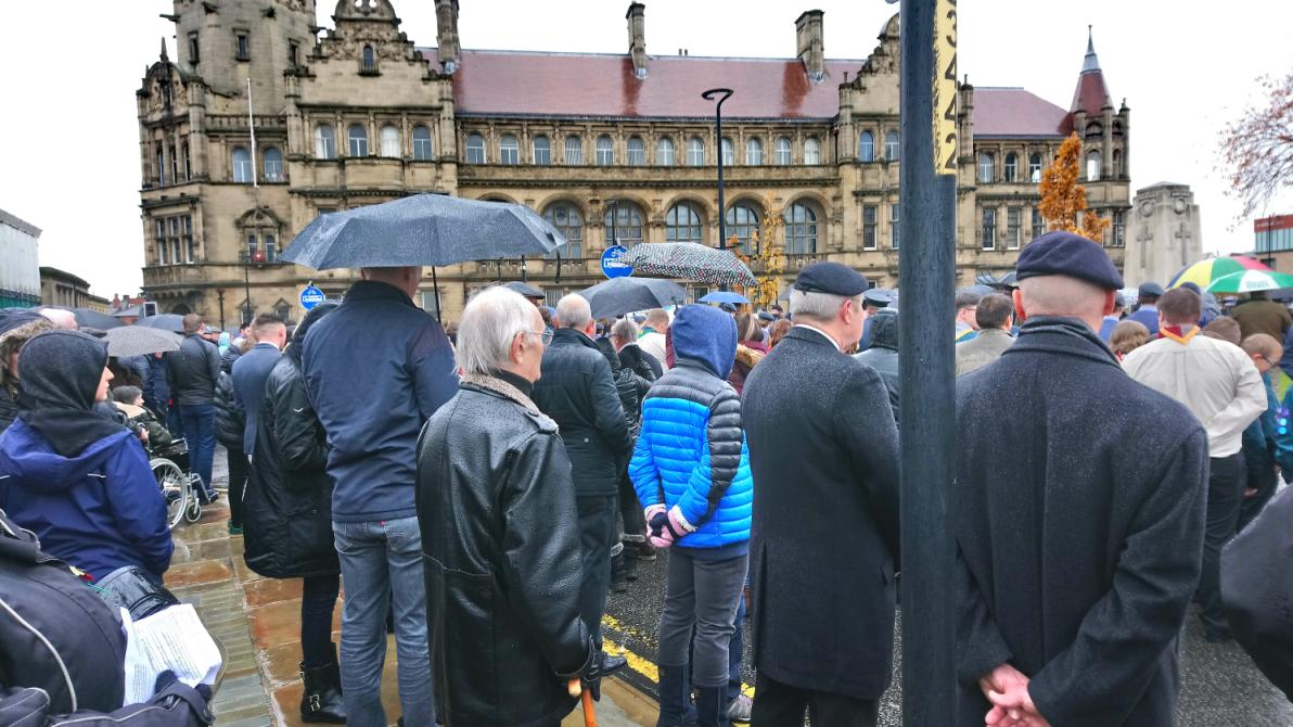 Large turnout for the City of Wakefield Remembrance Sunday parade