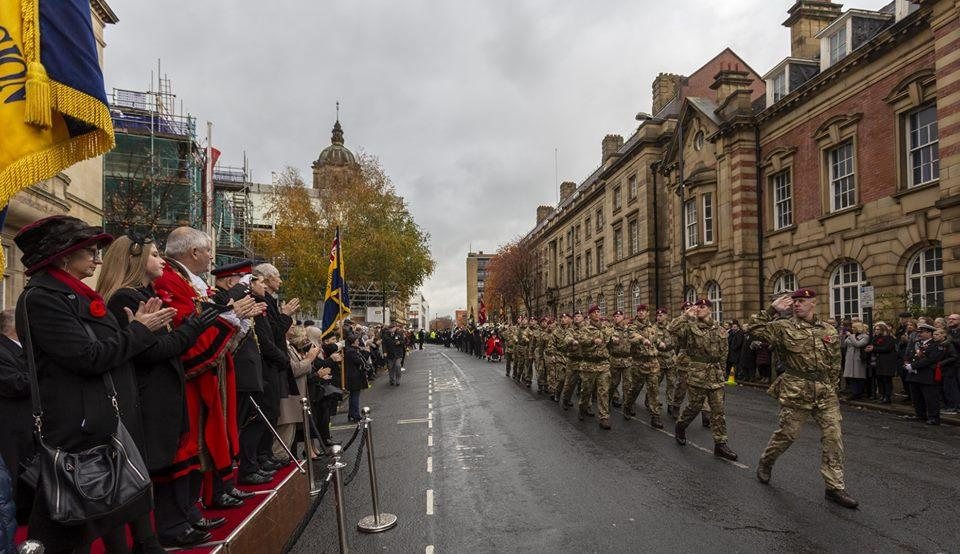 march past and salute to the Lord Mayor of Wakefield