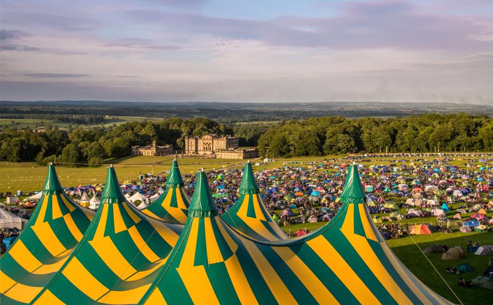 The Big Top, looking down towards Duncombe House