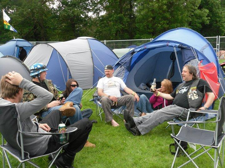 Chilling out by the tents