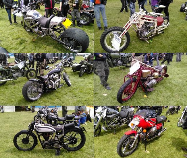 Lots of entrants in the ever popular bike show