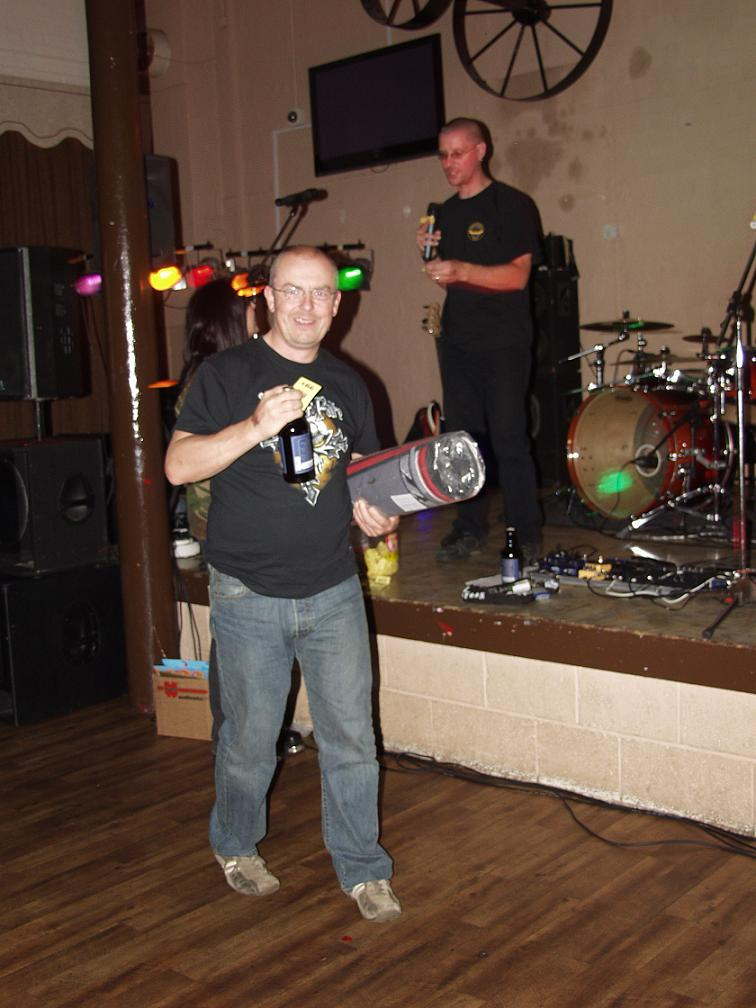 Mick was the only Wakefield MAG winner in the raffle