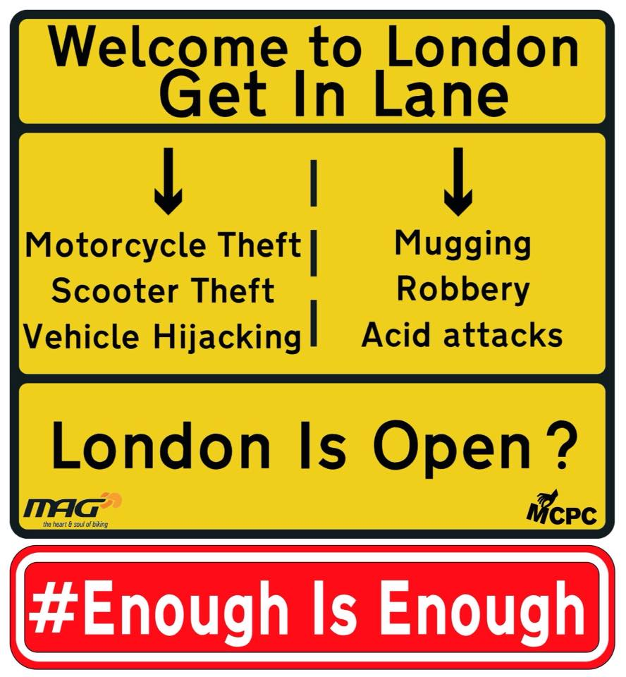 PTW Theft in London .. Enough is Enough
