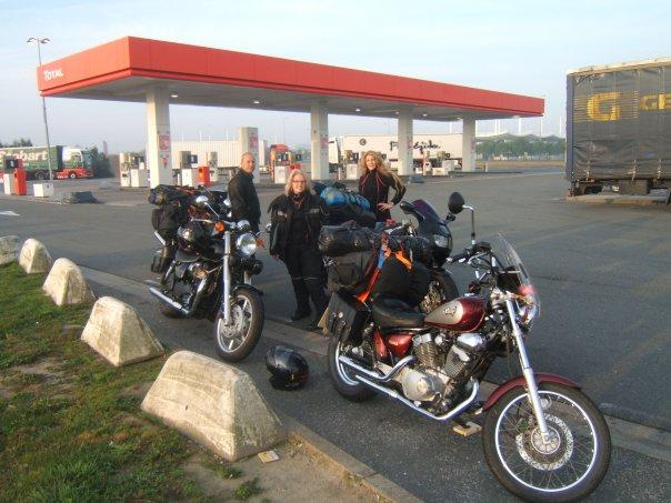 First fuel stop in France