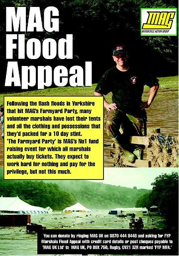 FYP Marshals Flood Appeal Poster