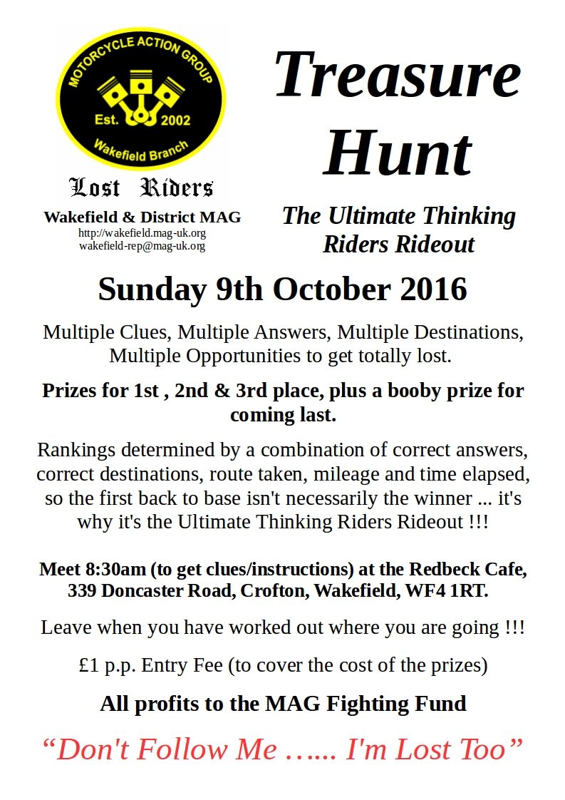 Treasure Hunt 2016 Poster